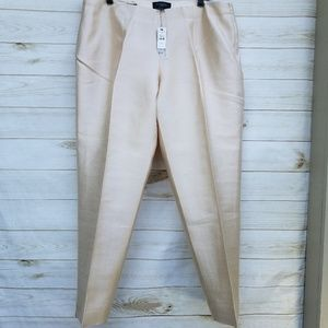 NWT Talbot's Signature 14W silk/wool cropped tan